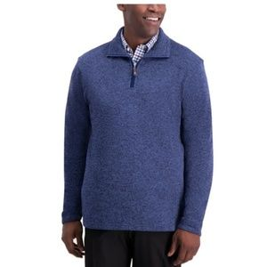 Knit Fleece Sweater For Men Seaport Blue